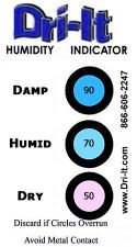 5 Humidity Indicator Cards